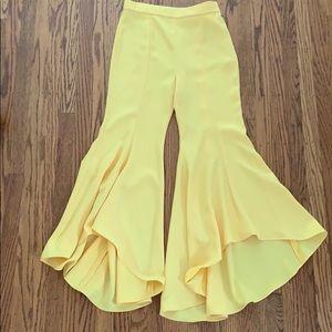 Zara Flared Cropped Pants Size Medium